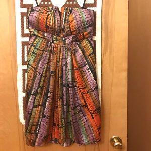 BCBG Butterfly Strapless Dress